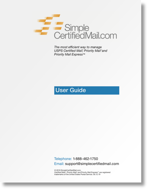 SimpleCertifiedMail.com User Guide