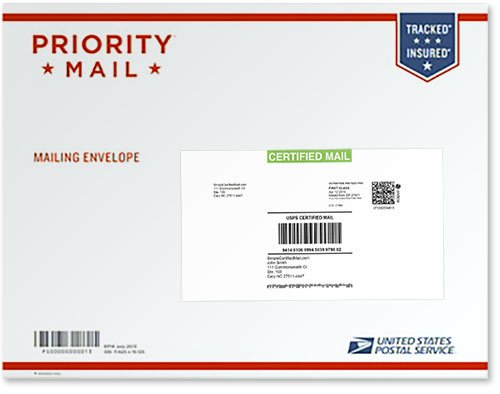 Certified Mail Label